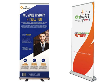 Supplier of Our pull-up banners include full colour print, top quality alluminium system and carry bag