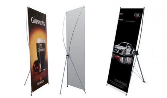 Our X-banners include full colour print, quality fiberglass system and thin carry bag.