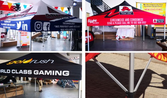 Quality supplier of quality Our gazebos are branded in full colour and the canopy is water proof.