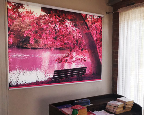 Quality branded theme roller blind factory
